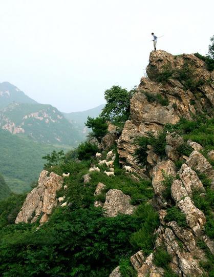 辽阳核伙沟森林公园 之 怪石嶙峋风景图片