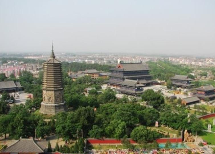 辽阳白塔公园景点图片