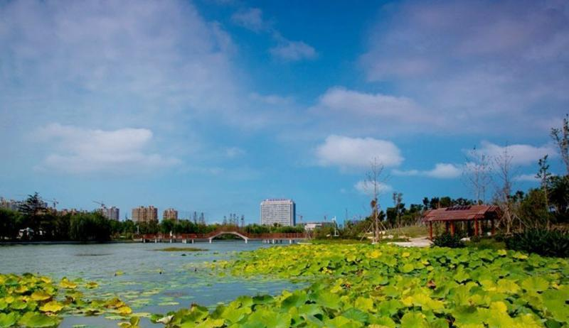 蓬莱平山河湿地公园水利风景点图片