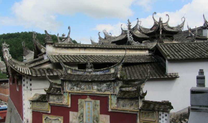 福建翠屏湖 之 房檐風景圖片