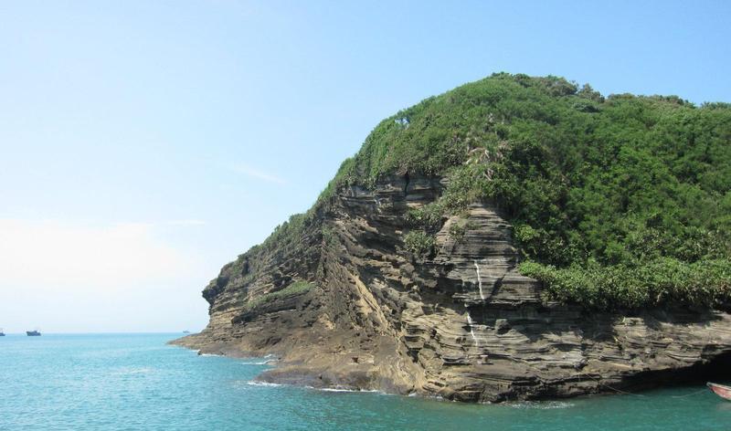 北海斜阳岛的图片和照片