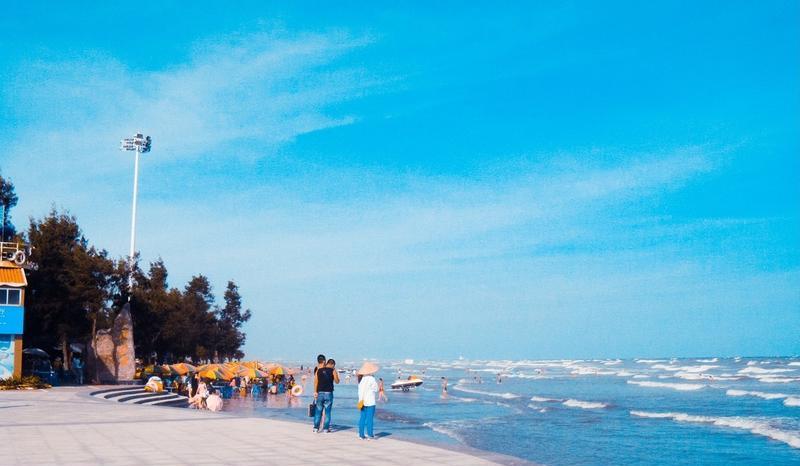 防城港江山半岛白浪滩景点图片