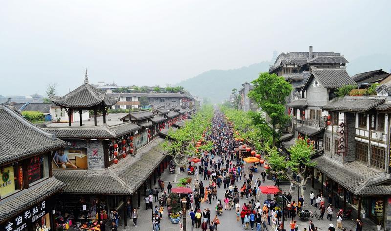 都江堰灌县古城景点图片