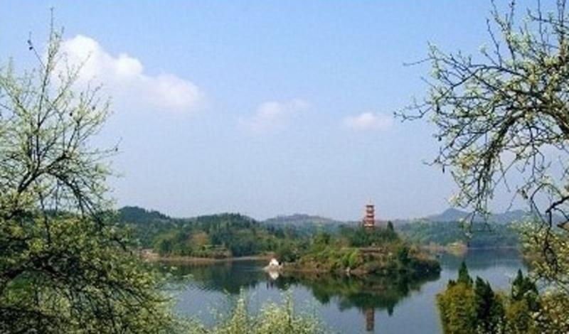广安岳池翠湖景点图片