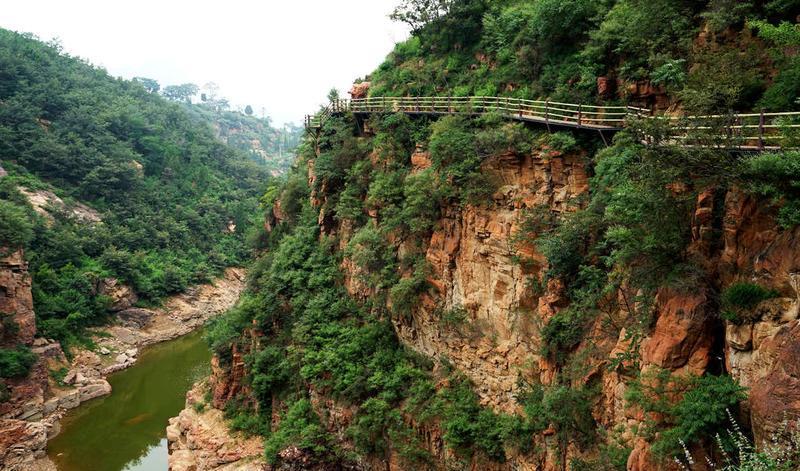 郑州新密伏羲大峡谷旅游风景图片