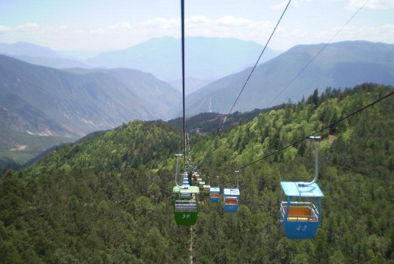丽江牦牛坪风 之 索道风景图片