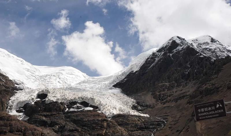 西藏卡若拉冰川景点图片