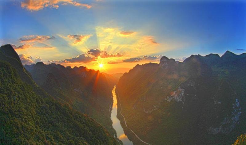 广西龙滩大峡谷国家森林公园景点图片