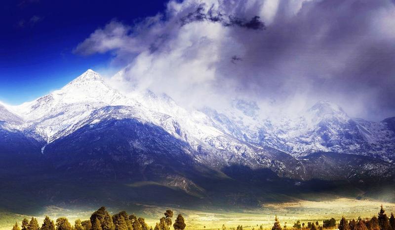 丽江玉龙雪山景点图片