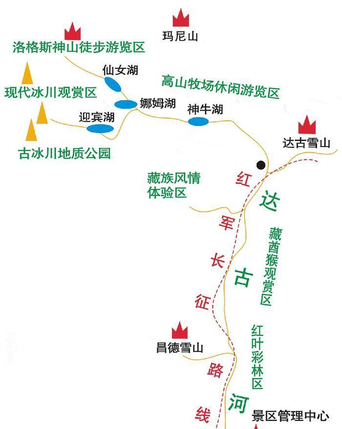 四川黑水达古冰山 之 索道风景图片