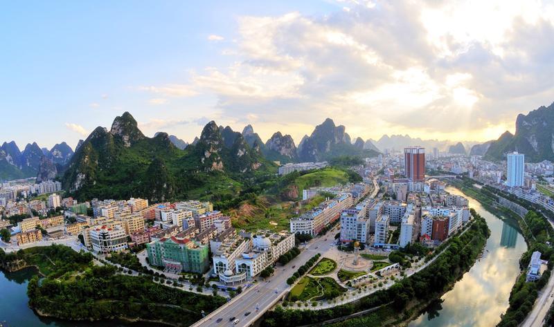 广西河池金城江小三峡景点图片