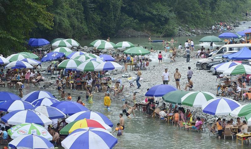 都江堰虹口旅游景点图片