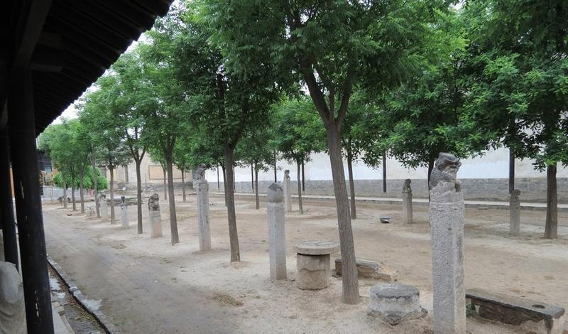 蒲城清代考院博物馆 之 拴马桩的图片和照片