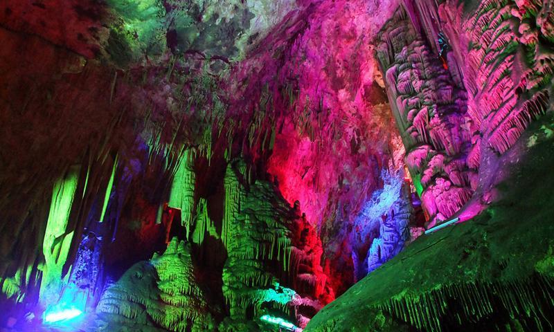 商洛柞水溶洞景点图片