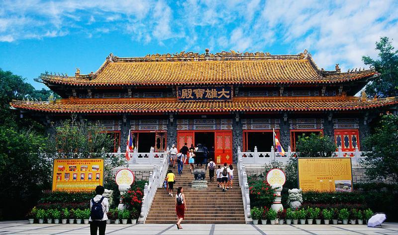 香港宝莲禅寺 之 大雄宝殿风景图片