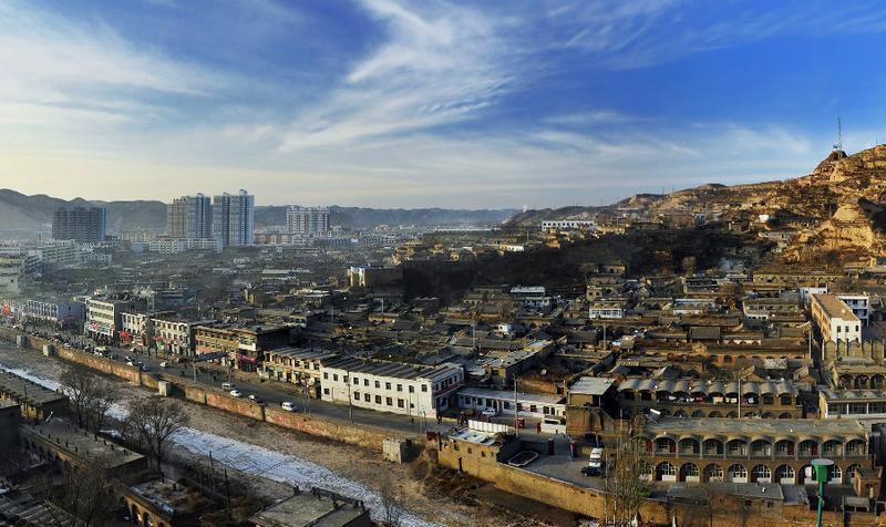 米脂古城老街景点图片