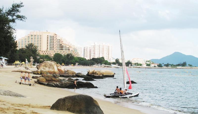 香港黄金海岸沙滩旅游风景图片