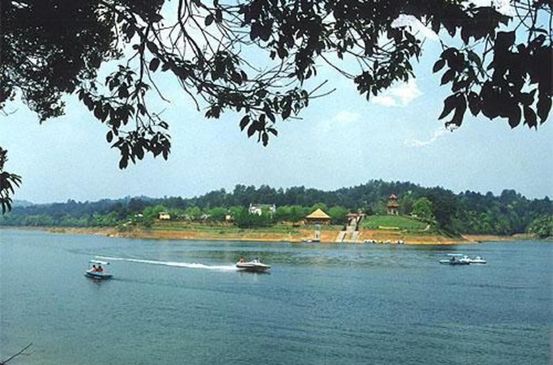 金塔鸳鸯湖的图片和照片