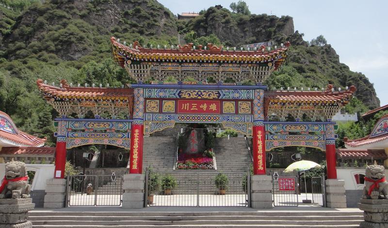 青海老爷山-宝库峡-鹞子沟风 之 山门风景图片