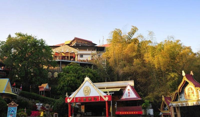 彰化四面佛寺旅游风景图片