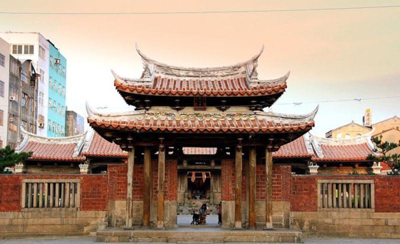 台湾鹿港龙山寺 之 山门风景图片
