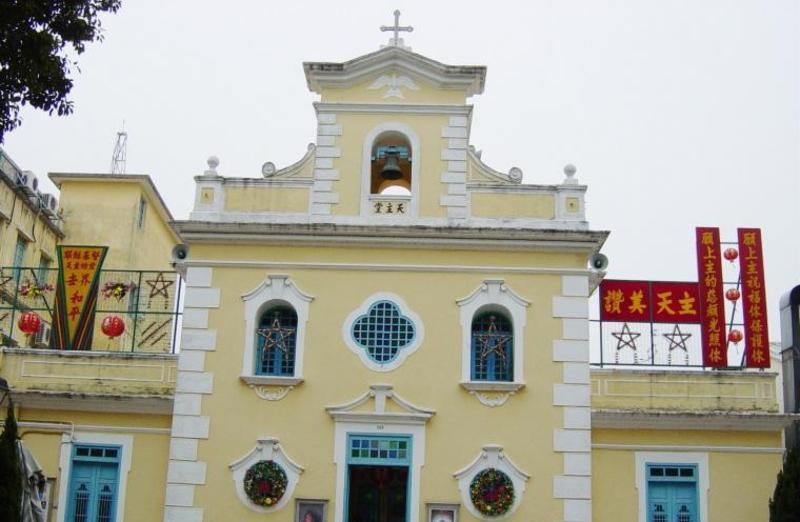 路环圣方济各堂旅游风景图片