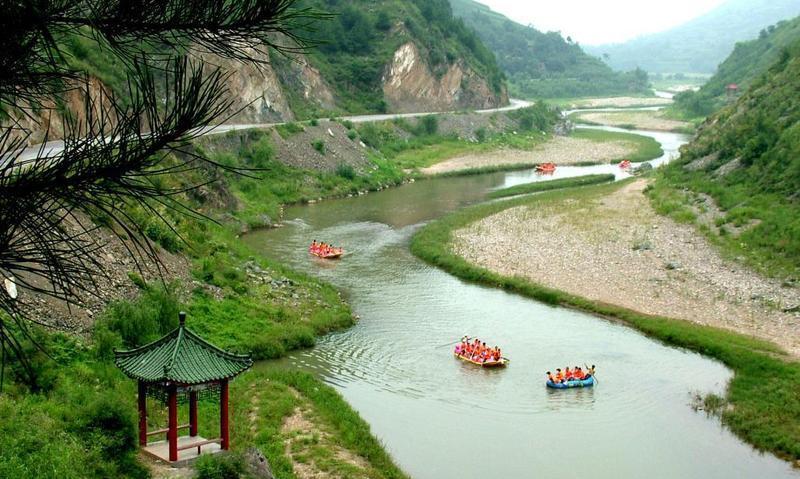 商洛丹江漂流景点图片
