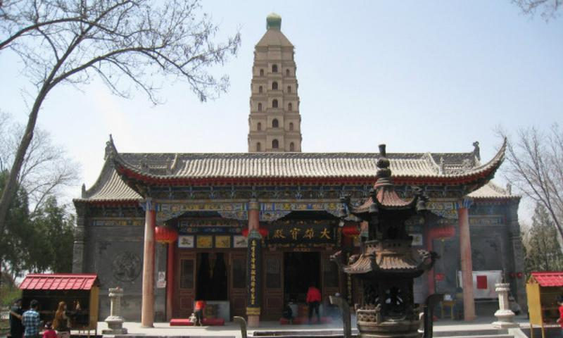 银川海宝塔寺 之 大雄宝殿风景图片