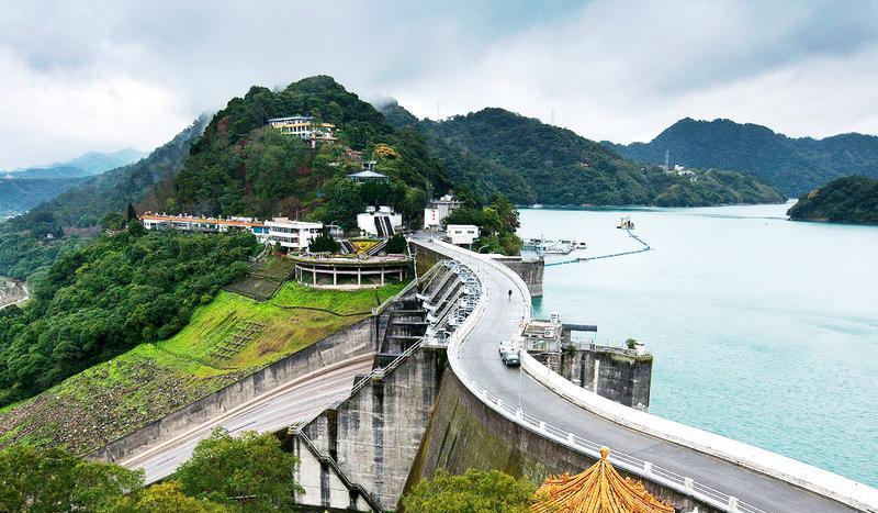 台湾石门水库风景点图片
