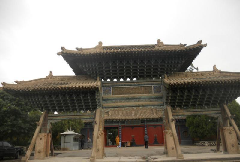 武威海藏寺 之 山门风景图片