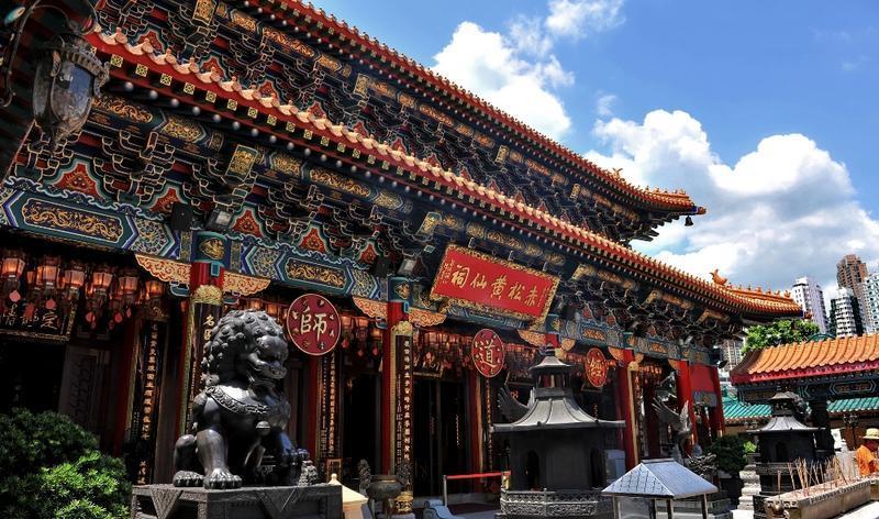 香港黄大仙祠旅游风景图片