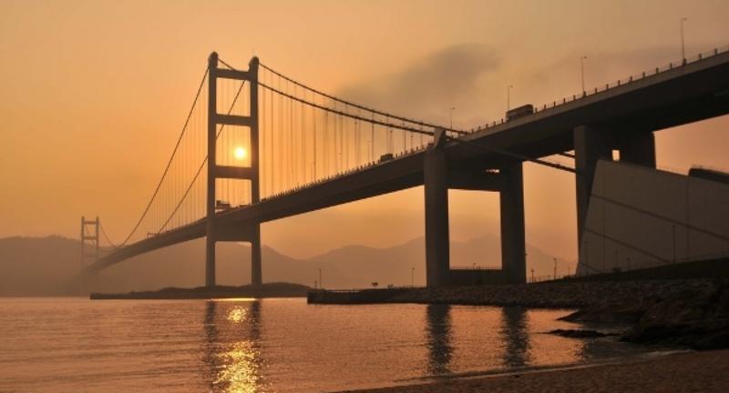 香港青马大桥旅游风景图片