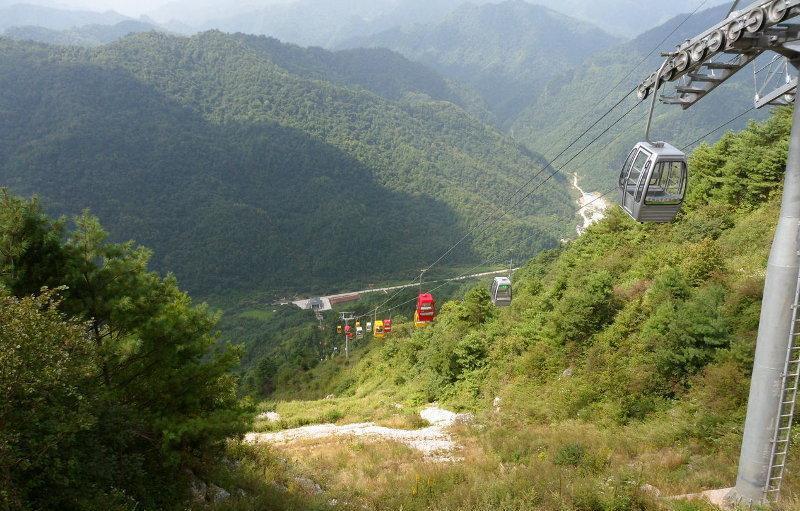 汉中紫柏山 之 索道风景图片